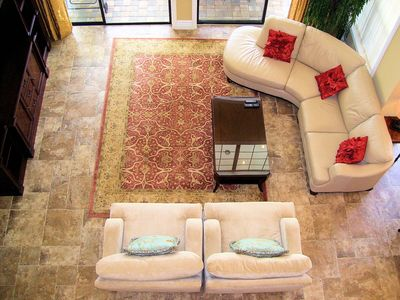 Reunion villa rental - Huge Living Room with two sliding glass doors to overlook the pool.