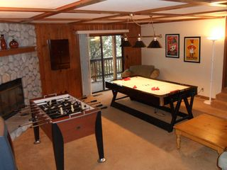 Lake Arrowhead house photo - Game Room;Darts, Pool Table, Foosball, Air Hockey, Queen Sleeper, balcony access