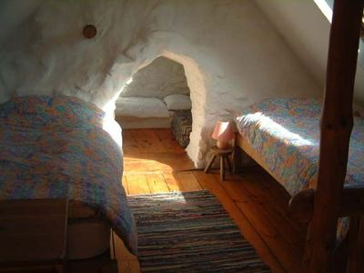 Mynachlog-ddu cottage rental - Galleried bedroom