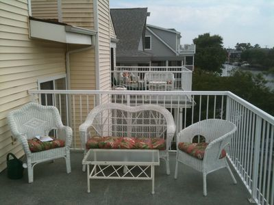South Bethany Beach house rental - Left side of King Bedroom Deck, Queen Bedroom Deck in distance