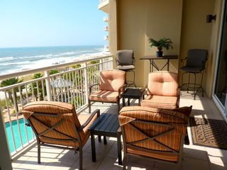 Perdido Key condo photo - Gulf Front Balcony-5th Flr. Very comfortable seating!