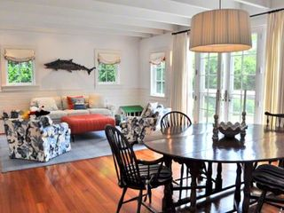 Edgartown house photo - Open Living & Dining Areas Open To The Kitchen & Bluestone Patio