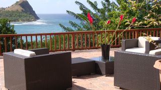 Beautiful new 1200 square ft lower deck December 2011 - Cap Estate villa vacation rental photo