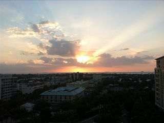 Patio sunset views over Key Biscayne and Biscayne Bay