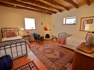 Santa Fe house photo - Bedroom 3 (NE bdrm) has two twin beds and private bath with shower.