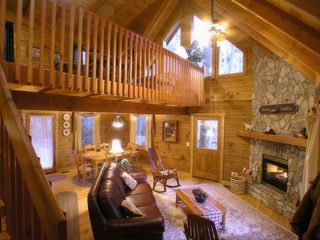 Banner Elk cabin photo - The Treehouse Living Area
