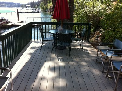 Deck at water's edge.