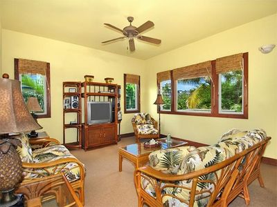 Living Area is Beautifully Decorated and Spacious and has a Large Outdoor Lanai