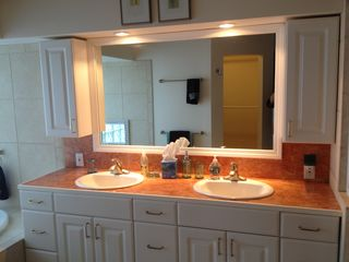 Cape Coral villa photo - Master bath suite has his/hers sinks, plenty of storage.