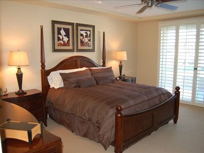 Master Suite with a king size bed.