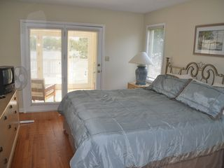 Moneta house photo - Master bedroom overlooking lake