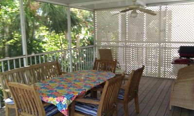 Screened in Lanai just off kitchen