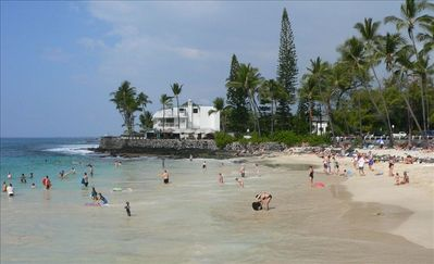 Magic Sands Beach looking towards Kona Magic Sands Condominium