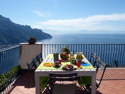 Spacious Villa in Ravello with Stunning Sea Views and Secure Parking