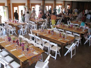 We have plenty of room on our lower level for gatherings of up to 200 people.