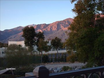Palm Springs condo rental - Sunrise off bedroom patio