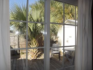 St. Augustine cottage photo - View from back bedroom to deck