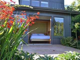 Bainbridge Island house photo - guest room opens to another private deck and the sea