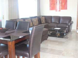 Cabo San Lucas condo photo - A Comfortable Living Room..Soft Leather Pullout Couch..Large and Comfy :-)