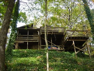 Greers Ferry Lake house rental - View from water