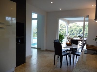 West Nice villa rental - terrace and kitchen
