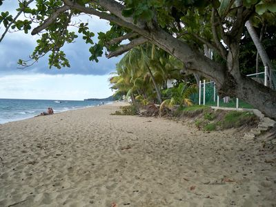 The Beach in Front of Casa Serena