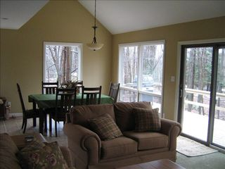 Lake Ariel chalet photo - Wood View from all angles and windows. Enjoy wild life Deer and All