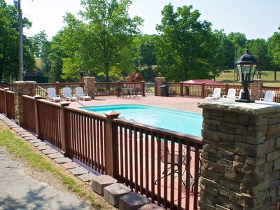 Newly renovated pool is a short walk from Branson Bear cabin