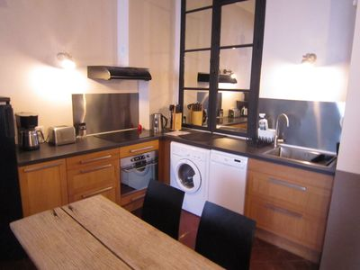 fully equipped kitchen (washing-machine,dryer,oven,microwave,Nespresso coffee)