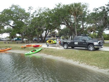 explore the indian river by boat or kayak youll see manatees and dolphin!!!