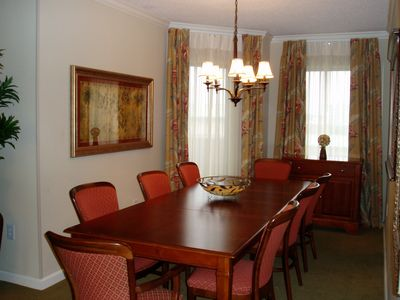 Large Dining Area with seating for 8.