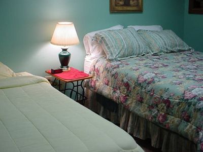 Queen and Twin Bed in Private Bedroom