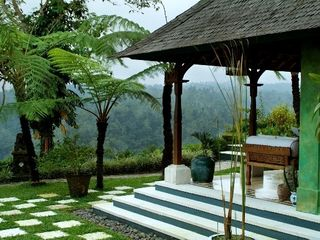 Ubud villa photo - The outdoor terrace in the Master Bedroom with a spectacular view.