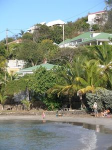 View From Marigot Anse to La Belle Vie (upper green roof)