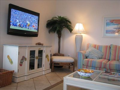 Seagrove Beach condo rental - Large Flat Screen TV in Living room
