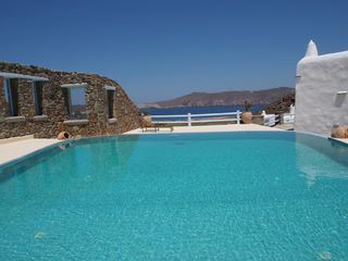 Mykonos villa photo - Private Infinity Pool with sea views