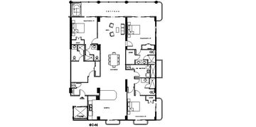Layout of the 2900 SF Unit
