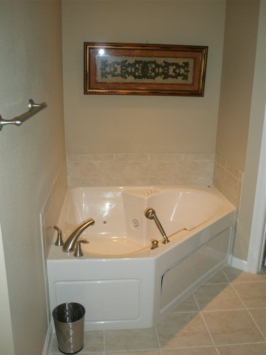 View of the large jacuzzi in the master bathroom