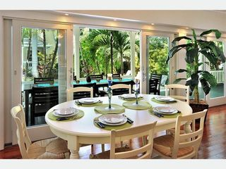 Key West house photo - The indoor dining area has a view of the pool.