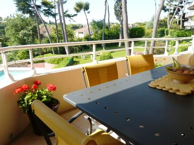 Antibes apartment rental - Balcony towards Pool and Gardens