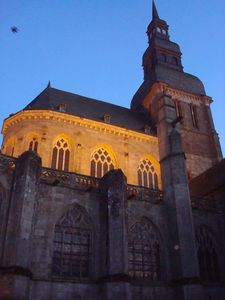 Saint Sauveur Basilica at night