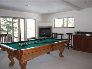 Montgomery Estates house photo - Game room with regulation pool table, 46 inch HDTV