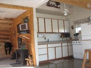Lapeer cabin photo - Kitchen and left is corner of living room