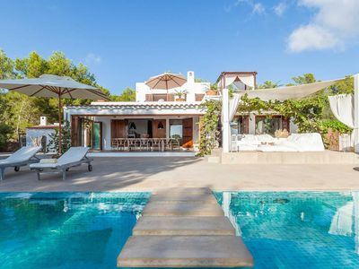 A stylish and exclusive villa near to Cala Jondal in a tranquil forest setting