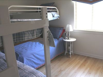 """Bunk"" bedroom - 1 Full bed and 3 twins"