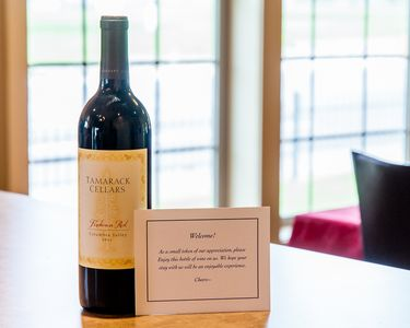 Complimentary bottle of wine for our guests