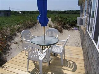 East Sandwich cottage photo - Furnished deck with views of the beach