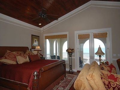 Master Bedroom entire top floor - private balcony overlooking gulf
