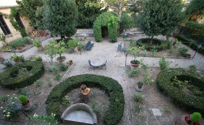 The florentine stile garden of the villa