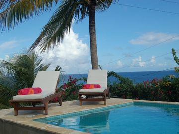 Vieques Island villa rental - New tiled pool